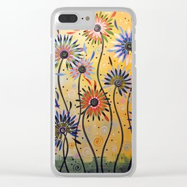 Abstract Art Flowers Floral Original Painting ... Explosion of Joy Clear iPhone Case