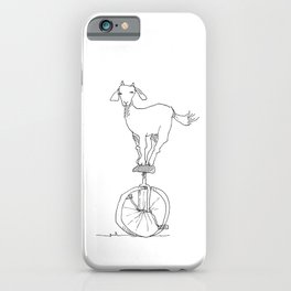Goat on a unicycle iPhone Case