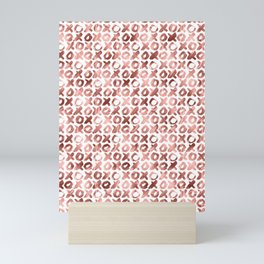 XOXO Kiss Me Rose Gold Pattern Mini Art Print