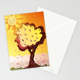 Under the tree part II Stationery Cards