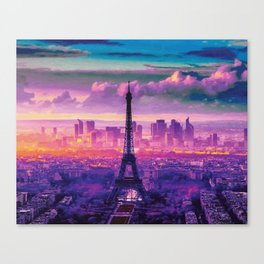 Beautiful Paris Canvas Print