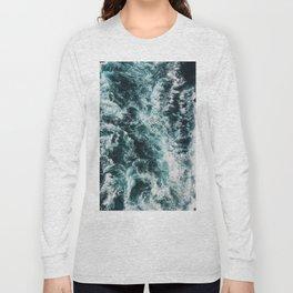 Green Seas, Yes Please Long Sleeve T-shirt