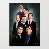 sherlock Canvas Prints featuring Sherlock by tillieke