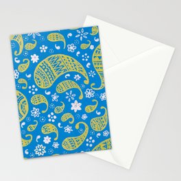 Gold Paisley Stationery Cards