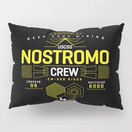 Deep Mining Crew / Nostromo / Alien / Science Fiction / Horror / Typography Pillow Sham