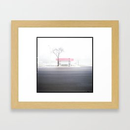 Frosty Freeze Framed Art Print