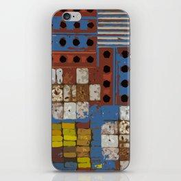 Construction geometric shapes iPhone Skin