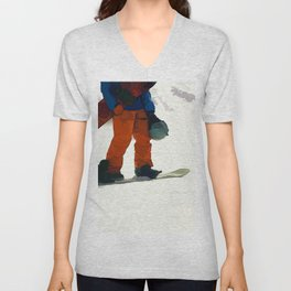 Ready to Ride! - Snowboarder Unisex V-Neck