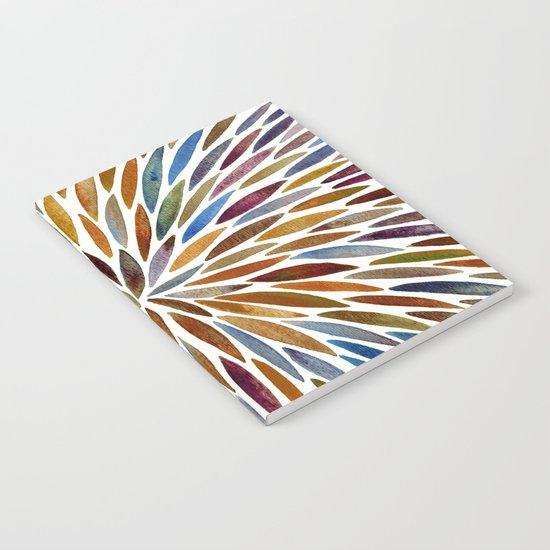 Watercolor Burst – Retro Palette Notebook