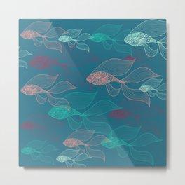 beta fish Metal Print