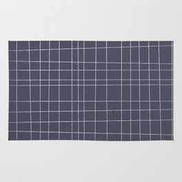 Charcoal Grid Rug