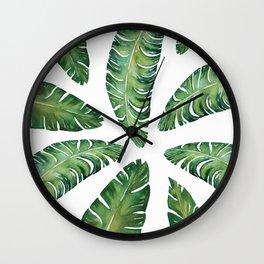 Tropical Banana Leaves #society6 #buyart Wall Clock