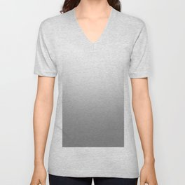White to Gray Horizontal Linear Gradient Unisex V-Neck