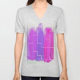 Purple Palette, Pastels, Pinks, Purples, Hues Unisex V-Neck