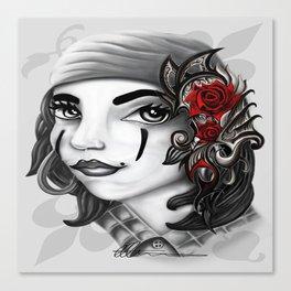 Gypsy lady design Canvas Print