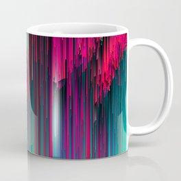Just Chillin' - Abstract Neon Glitch Pixel Art Coffee Mug