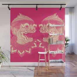 Hanuman Pink Wall Mural