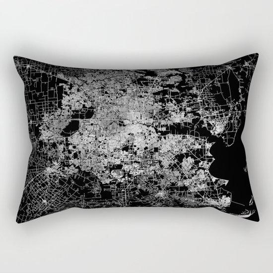 Houston map Rectangular Pillow