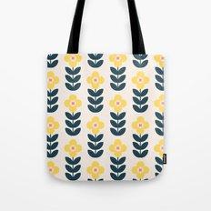 Vintage geometric flowers Tote Bag