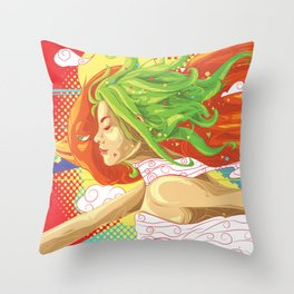 the Breeze of Creativity Throw Pillow