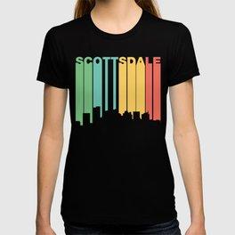 Retro 1970's Style Scottsdale Arizona Skyline T-shirt