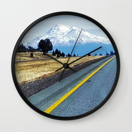 Road to Shasta Wall Clock
