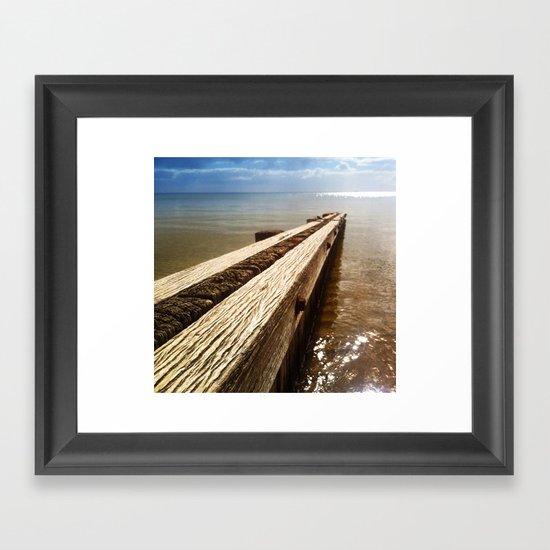 the break water 02 Framed Art Print