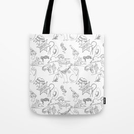 Cowboy Old West Dog Collage Tote Bag