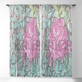 Drip Drop Graffiti Sheer Curtain