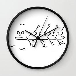 row the eighth boat oar sport Wall Clock