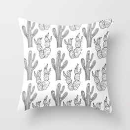 Austin Cacti Print Throw Pillow