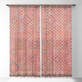 Afshar Kerman South Persian Cover Print Sheer Curtain