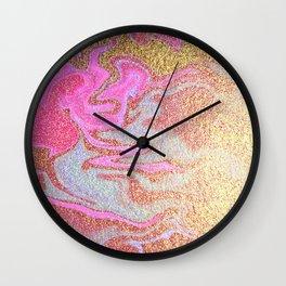 Glitter Marble Wall Clock