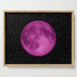 Dreamy Purple Moon Serving Tray