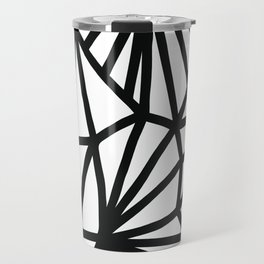 Modern Black and White geometric pattern #abstractart #decor Travel Mug