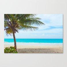 Tropical Paradise Beach Canvas Print