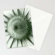 Black and White Flower Core Stationery Cards