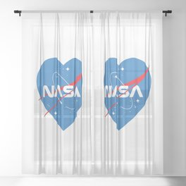 Love Nasa Sheer Curtain