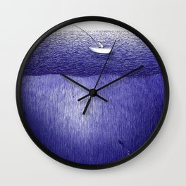 ballpoint pen ocean fishing Wall Clock