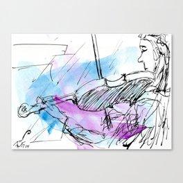 Violin in two tones II Canvas Print