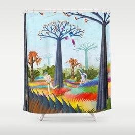 batmans paradise  Shower Curtain