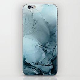 Blue Ocean Fog Calming Abstract iPhone Skin