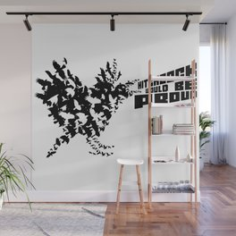Hitchcock would be proud - black Wall Mural