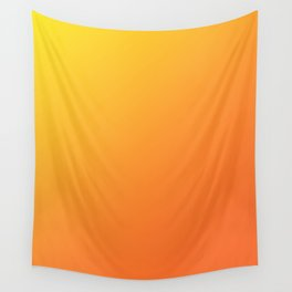 Yellow and Orange Gradient Wall Tapestry
