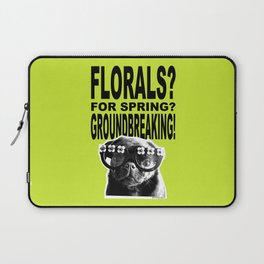 PUG SUKI - FLORALS FOR SPRING - 80S YELLOW Laptop Sleeve