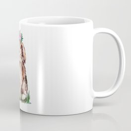 Bunny with Flower Crown Coffee Mug