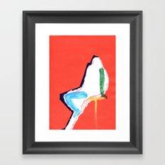 sitting figure Framed Art Print