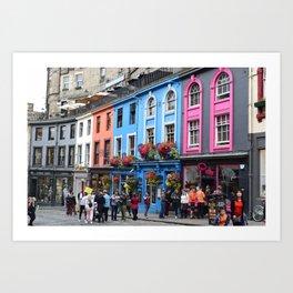 Victoria Street in Edinburgh Art Print