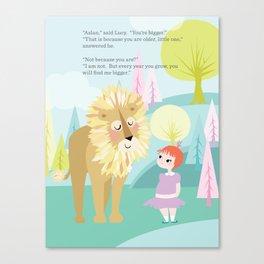 Aslan & Lucy Talking Canvas Print