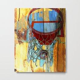 Basketball art 13 Metal Print